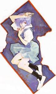 Rating: Safe Score: 9 Tags: ayanami_rei neon_genesis_evangelion sadamoto_yoshiyuki seifuku User: Radioactive