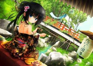 Rating: Questionable Score: 39 Tags: kimono no_bra open_shirt tanishi_0403 User: yanis