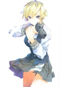 Rating: Safe Score: 26 Tags: fuyuno_haruaki gun seifuku User: Radioactive