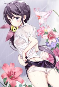 Rating: Questionable Score: 65 Tags: akebono_(kancolle) ass bra hamaken kantai_collection pantsu see_through seifuku skirt_lift wet wet_clothes User: hiroimo2