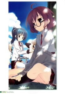 Rating: Questionable Score: 22 Tags: kagome kohitsuji_wa_mayowanai megane seifuku sweater thighhighs User: syk111