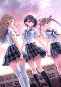 Rating: Safe Score: 71 Tags: blue_reflection gust_(company) kishida_mel possible_duplicate seifuku shijou_raimu shijou_yuzuki shirai_hinako thighhighs User: NotRadioactiveHonest