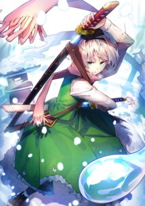 Rating: Safe Score: 31 Tags: konpaku_youmu sword touhou uu_uu_zan User: charunetra