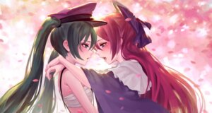 Rating: Questionable Score: 19 Tags: hatsune_miku megurine_luka sarashi tagme vocaloid yuri User: fairyren