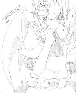 Rating: Safe Score: 6 Tags: monochrome remilia_scarlet sakuraba_yuuki touhou wings User: fireattack