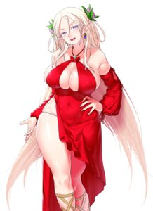Rating: Questionable Score: 28 Tags: dress elf no_bra pantsu pointy_ears skirt_lift tagme User: Mr_GT