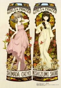 Rating: Safe Score: 35 Tags: dress girls_und_panzer nishizumi_shiho shimada_chiyo skirt_lift summer_dress wang_guo_nian User: drop