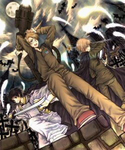 Rating: Safe Score: 11 Tags: america gun halloween hetalia_axis_powers japan male mari_(roony) megane united_kingdom User: Radioactive