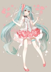 Rating: Safe Score: 63 Tags: garter hatsune_miku heels see_through takanashie vocaloid User: fairyren