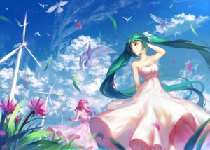 Rating: Safe Score: 47 Tags: cleavage dress hatsune_miku megurine_luka vocaloid yuket User: charunetra