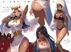 Rating: Questionable Score: 40 Tags: ass bra breast_hold cleavage dress ge_ji_ge_ji_er ishizu_ishtar pantsu skirt_lift thong yugioh User: Dreista