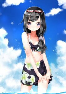 Rating: Safe Score: 64 Tags: akemi_homura bikini cleavage megane puella_magi_madoka_magica rin2008 swimsuits wet User: Mr_GT