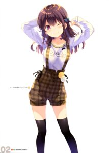 Rating: Safe Score: 75 Tags: gi(a)rlish_number karasuma_chitose_(giarlish_number) ohara_tometa qp:flapper thighhighs User: drop