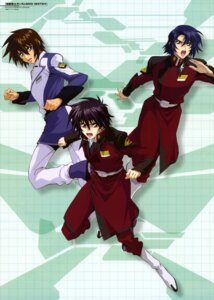 Rating: Safe Score: 5 Tags: athrun_zala gundam gundam_seed gundam_seed_destiny kira_yamato male oonuki_kenichi shinn_asuka uniform User: Share