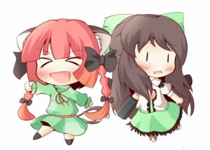 Rating: Safe Score: 8 Tags: animal_ears chibi kaenbyou_rin nekomimi reiuji_utsuho tail touhou uruc User: Radioactive