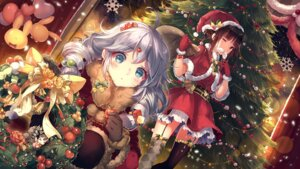Rating: Safe Score: 58 Tags: benghuai_xueyuan christmas dress jpeg_artifacts kiana_kaslana kieta pantyhose raiden_mei stockings thighhighs wallpaper User: RyuZU
