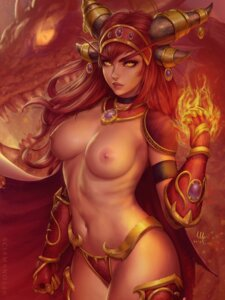 Rating: Questionable Score: 20 Tags: alexstrasza_the_life_binder armor bikini_armor horns mirco_cabbia monster nipples topless world_of_warcraft User: Darkthought75