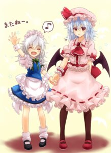 Rating: Safe Score: 22 Tags: izayoi_sakuya mickey_dunn remilia_scarlet touhou wings User: Mr_GT