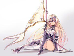 Rating: Safe Score: 54 Tags: armor fate/apocrypha fate/stay_night heels jeanne_d'arc jeanne_d'arc_(fate) lee_seok_ho sword thighhighs User: Mr_GT