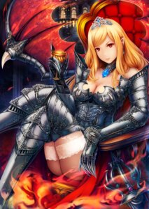 Rating: Questionable Score: 39 Tags: armor cleavage iwayuu nopan pointy_ears sword thighhighs wings User: Mr_GT