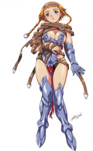 Rating: Questionable Score: 20 Tags: armor cleavage hisayuki_hirokazu leina queen's_blade User: blooregardo