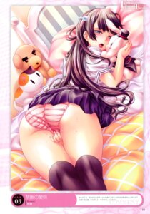 Rating: Explicit Score: 92 Tags: ass chou_yoriyuki masturbation pantsu seifuku shimapan thighhighs User: Kalafina