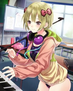 Rating: Safe Score: 21 Tags: headphones leotard school_fanfare thighhighs User: saemonnokami