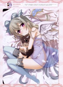Rating: Questionable Score: 57 Tags: nanase_meruchi nopan see_through thighhighs wings User: drop