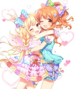 Rating: Safe Score: 33 Tags: dress futaba_anzu garter komachi_pochi moroboshi_kirari the_idolm@ster the_idolm@ster_cinderella_girls User: Mr_GT