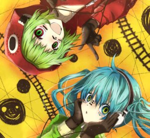 Rating: Safe Score: 11 Tags: gumi hatsune_miku matryoshka_(vocaloid) utaori vocaloid User: Kyouko