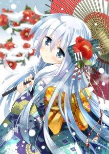 Rating: Safe Score: 49 Tags: hibiki_(kancolle) hizuki_yayoi kantai_collection kimono umbrella User: Mr_GT