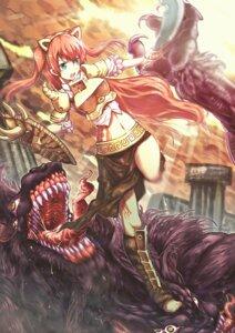 Rating: Safe Score: 12 Tags: animal_ears armor is_ii monster User: yumichi-sama
