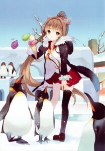 Rating: Safe Score: 67 Tags: kantai_collection penguin seifuku sheska_xue thighhighs yamato_(kancolle) User: yong