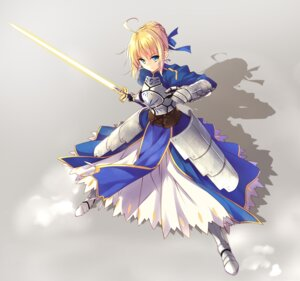 Rating: Safe Score: 42 Tags: armor dress fate/stay_night hayakawa_harui saber sword User: fairyren