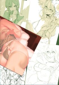 Rating: Questionable Score: 15 Tags: lingerie nipples sasaoka_gungu see_through sketch stitchme User: chikiunokami