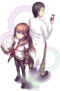 Rating: Safe Score: 31 Tags: hiraga_matsuri makise_kurisu okabe_rintarou pantyhose steins;gate User: charunetra