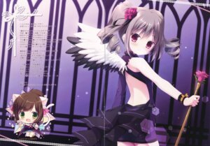 Rating: Safe Score: 43 Tags: animal_ears canvas+garden chibi fixme gap kanzaki_ranko miyasaka_nako nekomimi no_bra tail the_idolm@ster the_idolm@ster_cinderella_girls thighhighs wings User: Radioactive