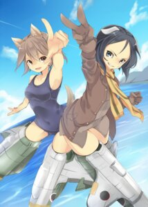 Rating: Questionable Score: 19 Tags: animal_ears kanno_naoe mecha_musume miyafuji_yoshika school_swimsuit strike_witches swimsuits tagme tail User: Radioactive