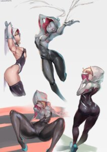 Rating: Questionable Score: 57 Tags: ass bodysuit cameltoe cutesexyrobutts leotard marvel no_bra spider-gwen thighhighs User: Spidey