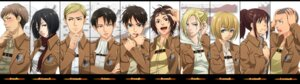 Rating: Safe Score: 20 Tags: annie_leonhardt armin_arlelt blood connie_springer eren_jaeger erwin_smith hanji_zoe jean_kirschtein levi masami_chie megane mikasa_ackerman sasha_browse shingeki_no_kyojin uniform User: 23yAyuMe