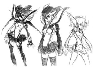 Rating: Safe Score: 7 Tags: ass kill_la_kill monochrome sketch stockings tagme thighhighs User: Radioactive