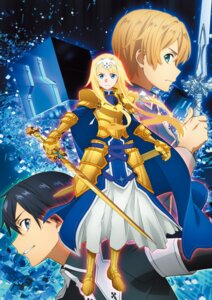 Rating: Safe Score: 21 Tags: alice_schuberg armor eugeo kirito sword sword_art_online sword_art_online_alicization sword_art_online_alicization_lycoris uniform User: kiyoe