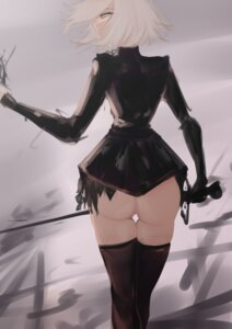 Rating: Questionable Score: 17 Tags: ass biriyb dress fate/grand_order jeanne_d'arc jeanne_d'arc_(alter)_(fate) nopan sword thighhighs User: Genex