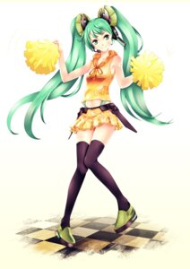 Rating: Safe Score: 14 Tags: cheerleader hatsune_miku infinote thighhighs vocaloid User: Sanderu
