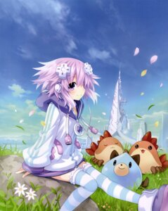 Rating: Safe Score: 50 Tags: choujigen_game_neptune compile_heart dress headphones neptune shinjigen_game_neptune_vii slime thighhighs tsunako User: jateruy