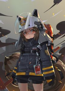 Rating: Safe Score: 23 Tags: animal_ears arknights bandaid bike_shorts shaw_(arknights) sima_naoteng tail weapon User: Mr_GT