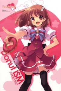 Rating: Safe Score: 20 Tags: flyable_heart inaba_yui ito_noizi seifuku thighhighs unisonshift User: cosmic+T5