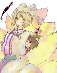 Rating: Safe Score: 4 Tags: chen makino_(border000) tail touhou yakumo_ran User: Radioactive