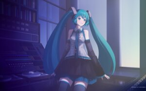 Rating: Safe Score: 14 Tags: hatsune_miku lidsan thighhighs vocaloid wallpaper User: Share