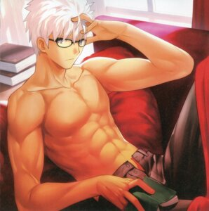 Rating: Safe Score: 16 Tags: archer bleed_through fate/extra fate/extra_ccc fate/stay_night male megane paper_texture takeuchi_takashi type-moon User: DDD